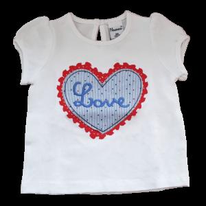 T-Shirt mit Love Herz