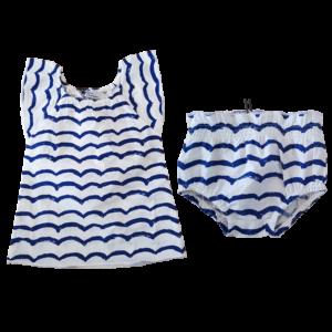 Kleid Hose Wellenmuster Sommer