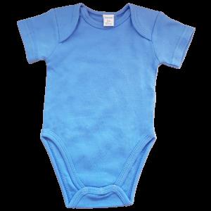 Blauer Baby Body aus 100% Baumwolle