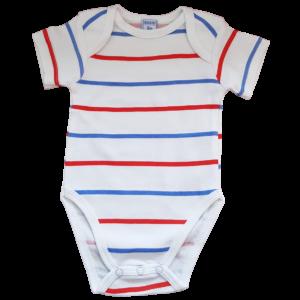 Baby Body aus 100% Baumwolle mit Streifen