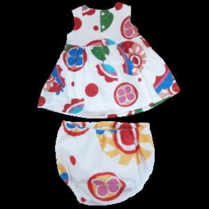 Blumen-Kleid mit Höschen