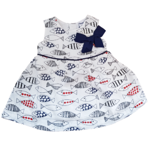 Fischchen-Kleid mit Schleife