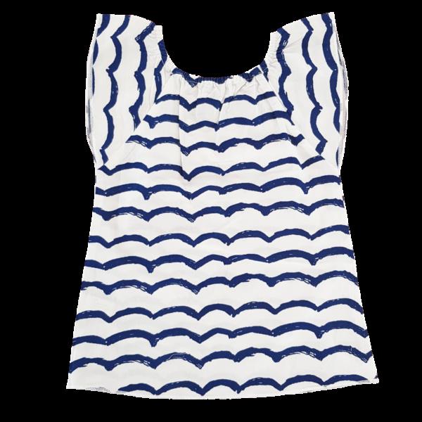Kleid Wellenmuster Sommer