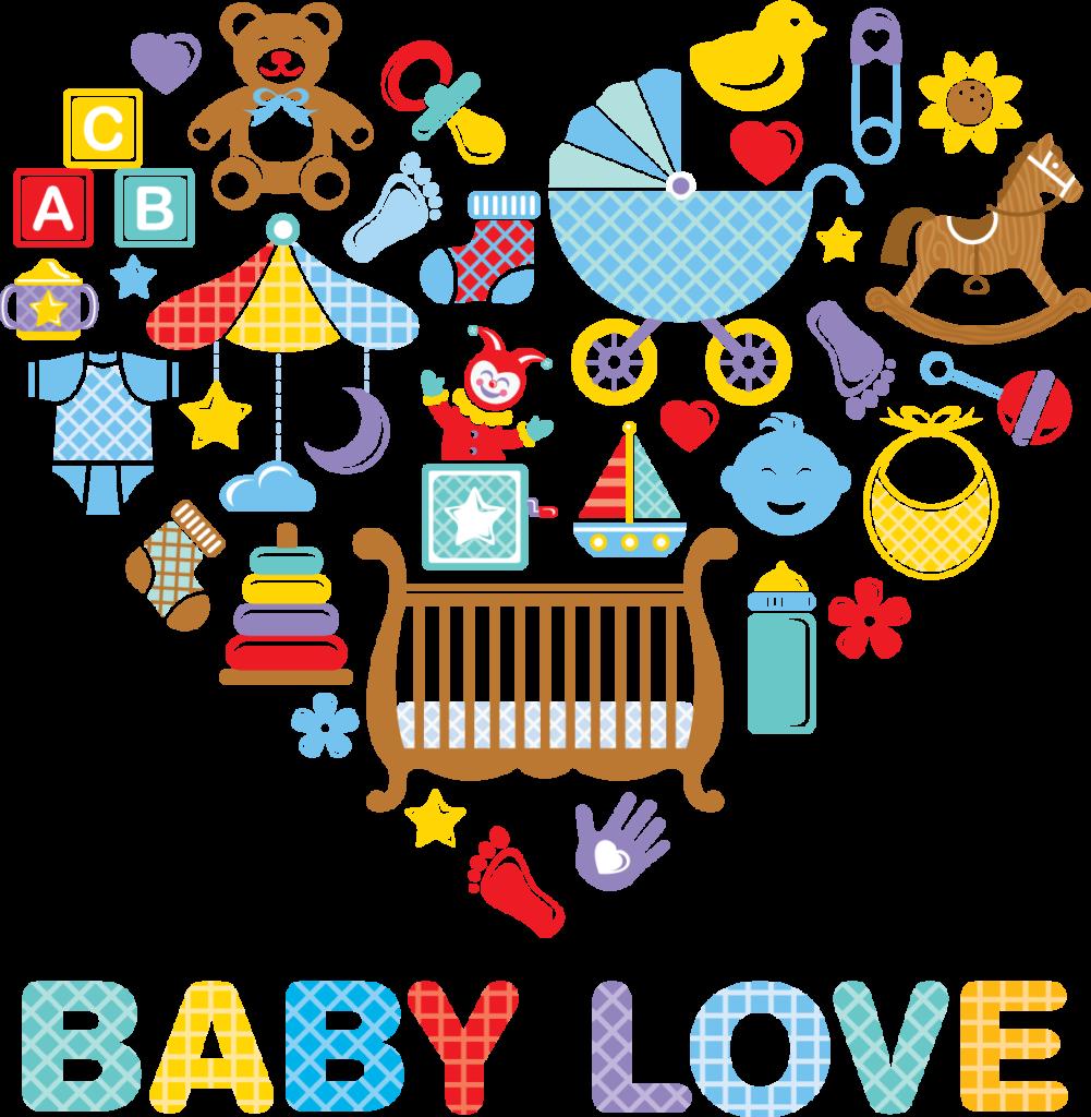 Illustration mit verschiedenen Mustern für Kleinkinder und Babys
